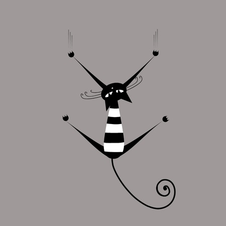 Funny striped cat for your design  Vector