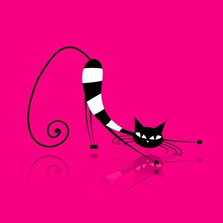 graceful: Graceful striped cat for your design  Illustration