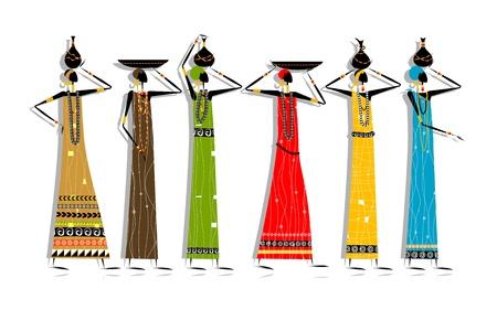 fille indienne: Les femmes ethniques avec des cruches pour la conception de votre