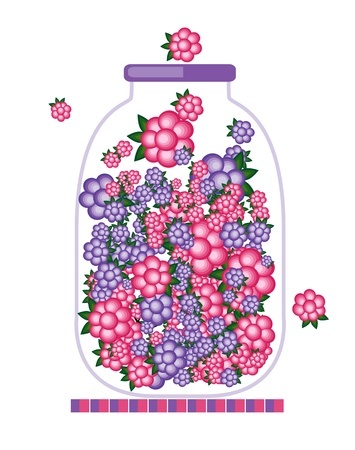 Jar with fruit jam for your design Vector