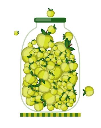 marmalade: Banca con marmellata di mele per la progettazione Vettoriali