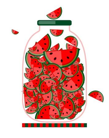 jam jar: Jar with fruit jam for your design