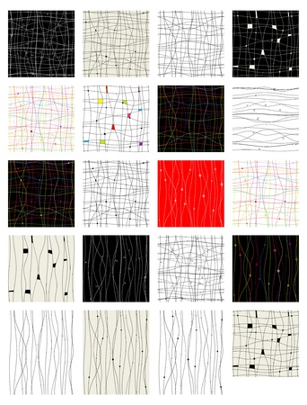 lattice frame: Set of abstract seamless pattern for your design