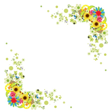 Floral frame for your design Vector