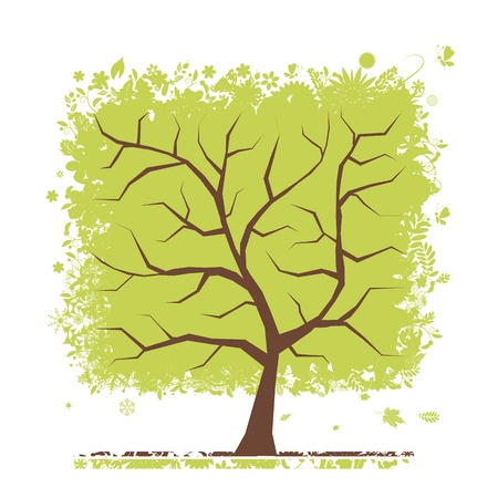 Abstract green tree for your design Stock Vector - 13816051