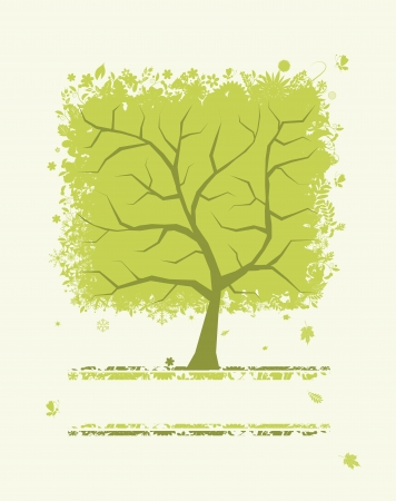 Abstract green tree for your design Stock Vector - 13816074