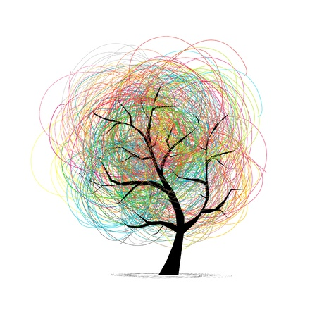 Abstract tree for your design Vector