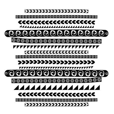 simple border: Black ethnic ornament for your design