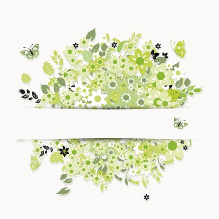 Summer banner with place for your text Vector