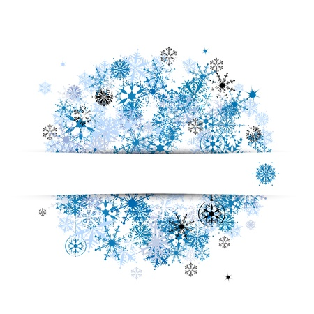 Winter banner with place for your text Illustration