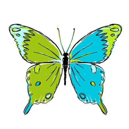 Sketch of butterfly for your design Vector