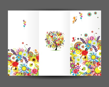 Birthday postcard, cover page  Design for your print Vector