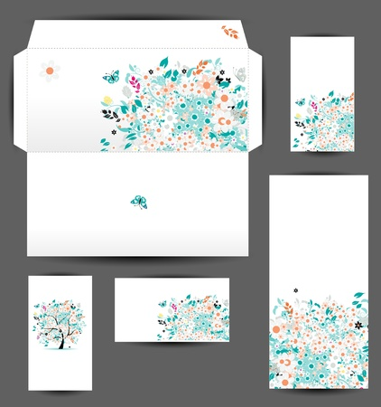letter envelope: Envelope and business cards for your design