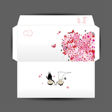 Design of wedding envelope Vector