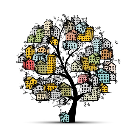 City tree, sketch for your design Stock Vector - 14365989