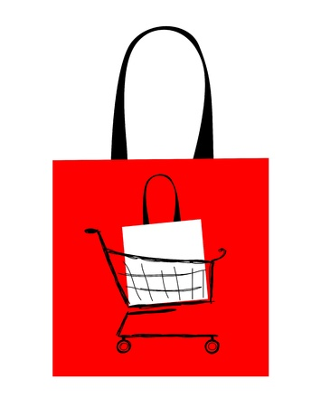 Red bag design for your shopping Stock Vector - 14946584