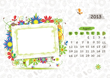 Vector calendar 2013, april. Frame with place for your text or photo Stock Vector - 14946767