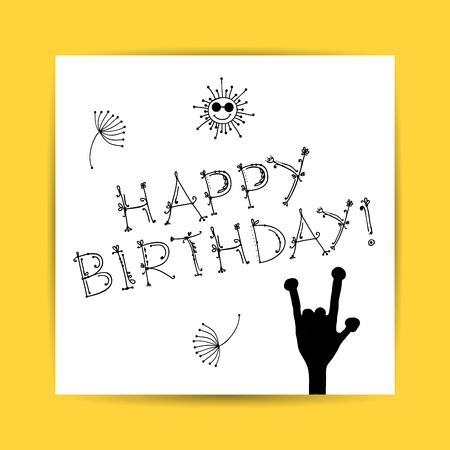 Birthday postcard for your design Stock Vector - 14946668