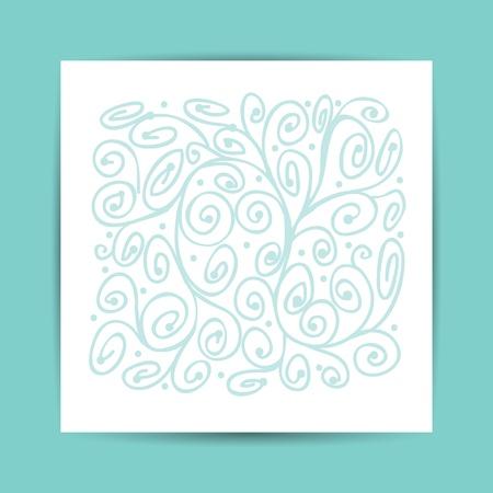 descriptive color: Abstract ornament, postcard for your design