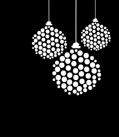 curve ball: Christmas decoration for your design Illustration