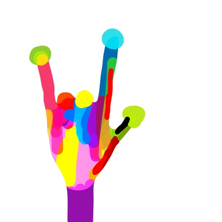 stop hand: Funny hand design Illustration