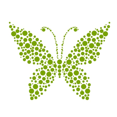 Dots in shape of butterfly for your design Vector