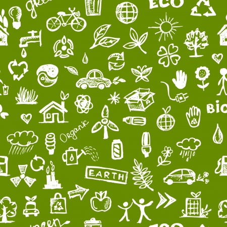 energy conservation: Ecology concept. Seamless pattern for your design