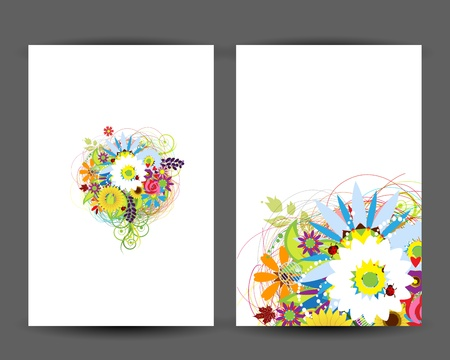 Floral postcard, design for your print Vector