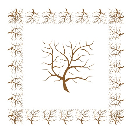 plats: Frame from tree branches for your design