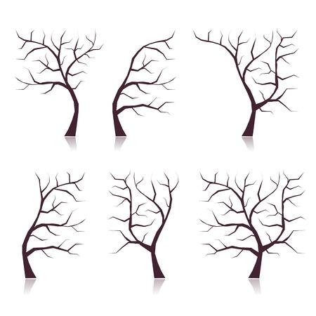 plats: Set of tree trunks