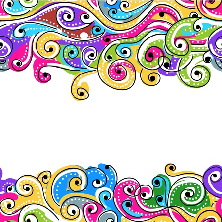 Seamless wave hand drawn pattern for your design, abstract background Vector