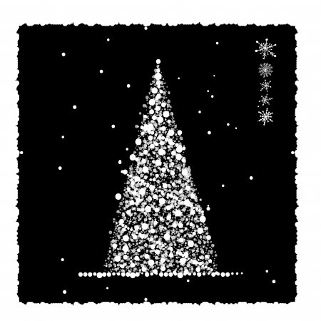 Abstract christmas tree, card for your design Stock Vector - 15478199