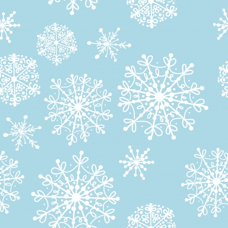 Seamless pattern with winter snowflakes for your design Stock Vector - 15478192