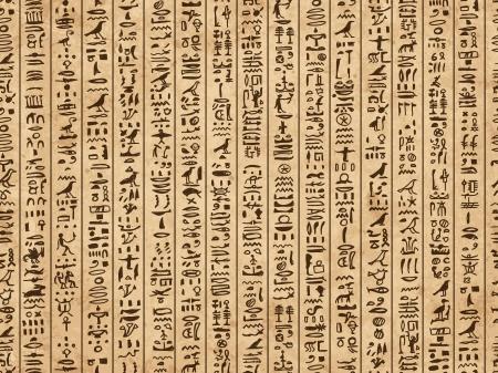 rękopis: Egipt hieroglify, grunge szwu do projektowania