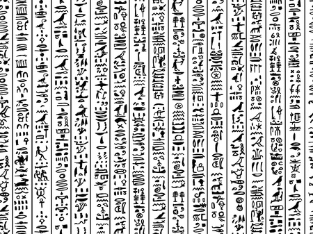 handwrite: Egypt hieroglyphs, seamless pattern for your design