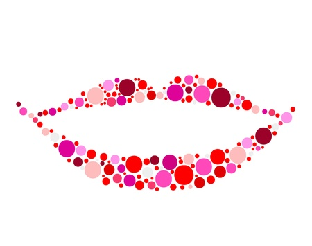 Shiny lips for your design Vector
