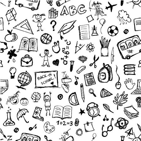 föremål: Skolhandritad mönster för din design