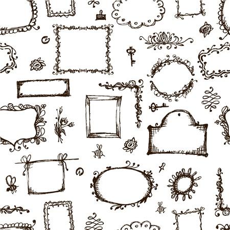 bordure de page: Seamless pattern avec des cadres pour la conception de votre
