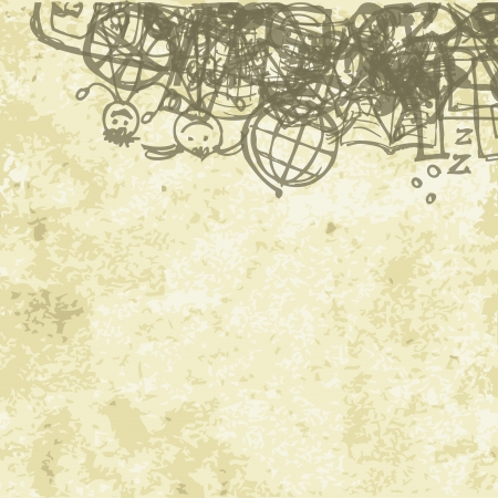 soumis: �cole de fond sur le papier grunge pour votre conception Illustration