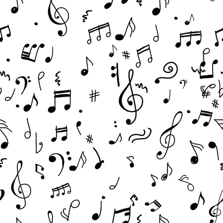 Abstract musical pattern for your design Vector
