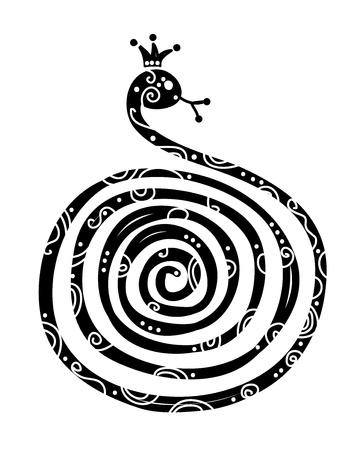 king cobra: Snake silhouette design, symbol of chinese new year 2013