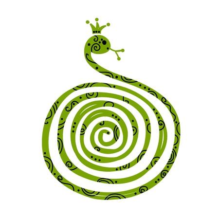 Serpiente dise�o de la silueta, s�mbolo del a�o nuevo chino 2013