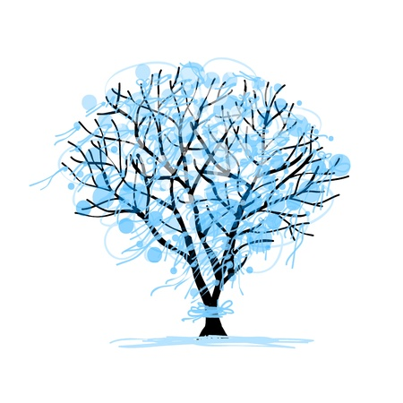 Winter tree sketch for your design Stock Vector - 16125695