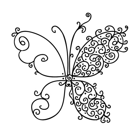 Ornamental butterfly for your design Stock Vector - 16683255