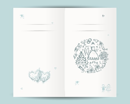 tree ring: Wedding card design with place for your text Illustration