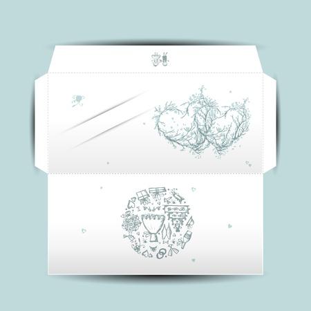 envelope decoration: Dise�o del sobre de la boda