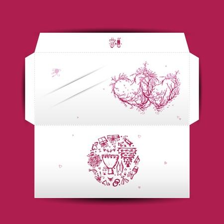 Design of wedding envelope Stock Vector - 16683419