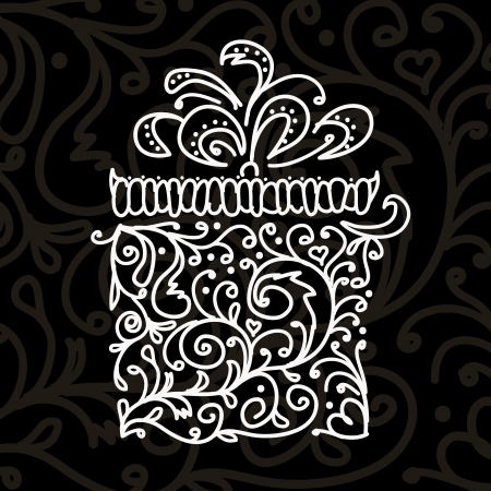 Gift box stylized for your design  Illustration