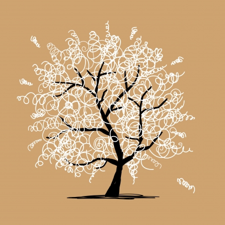 frizzy: Abstract frizzy tree for your design Illustration