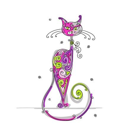 pussycat: Art cat for your design